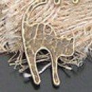 Lot of 400pcs mini Brass Angry Cat dollhouse miniature toy/jewelry Charm