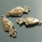 Lot of 200pcs mini Brass Fish dollhouse miniature toy/jewelry Charm B2