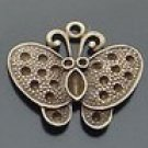 Lot of 200pcs mini Brass Butterfly dollhouse miniature toy/jewelry Charm B4