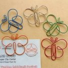 Lot of 96pcs Paper Clip Butterfly Shaped/bookmark A2