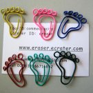 Lot of 96pcs Paper Clip FOOT Shaped/bookmark