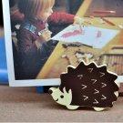 Memo & Name Card Holder Stand Hedgehog Animal Shaped