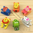 Lot of 6pcs Cartoon Animal mini Portable Desk Staple /wood