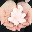 3 x Flower Shaped Paper Memo Pad Sticky /Desk Note