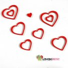 Lot of 2 Sets 3D Solid Heart wood Wall Stickers/Home Decor