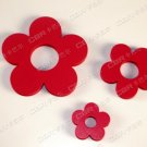 Lot of 2 Sets 3D Solid Flower Wall Stickers/Home Decor