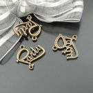 Lot of 300pcs mini Brass Party Word dollhouse miniature toy/jewelry metal alloy Charm