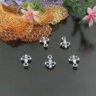 500 x mini silver Fleur de Lys dollhouse miniature toy/jewelry bracelet alloy Charm