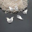 Lot of 500pcs mini Silver Hand dollhouse miniature toy/jewelry bracelet alloy Charm B2