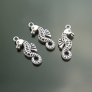 Lot of 300pcs mini silver Seahorse dollhouse miniature toy/jewelry Charm