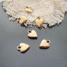 Lot of 50pcs mini Gold Heart dollhouse miniature toy/jewelry bracelet alloy Charm