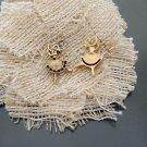 Lot of 40pcs mini Gold Ballet Girl dollhouse miniature toy/jewelry bracelet alloy Charm