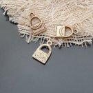 Lot of 50pcs mini Gold Wallet Bag dollhouse miniature toy/jewelry bracelet alloy Charm