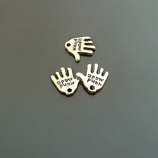 Lot of 500pcs mini Gold Hand dollhouse miniature toy/jewelry bracelet alloy Charm B2