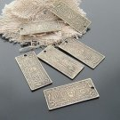 Lot of 100pcs mini Brass 100 Dollar Bill dollhouse miniature toy/jewelry bracelet metal alloy Charm