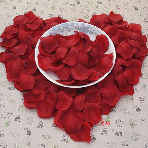 Lot of 480pcs Fake Wedding Red Rose Petal Life Size