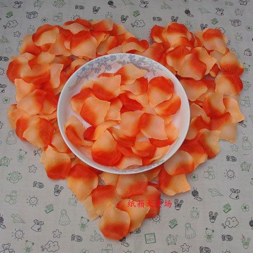 Lot of 480pcs Fake Orange Wedding Blue Rose Petal Life Size