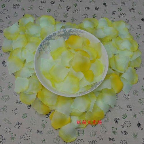Lot of 480pcs Fake Yellow white Wedding Blue Rose Petal Life Size