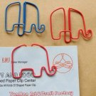 Lot of 96pcs Paper Clip Elephant Animal Shaped / Bookmark office