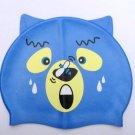 Kid Swimming Pool Blue Bear Swim Sliccon Fabric Cap / Bathing Cap B2