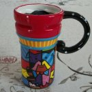 Hand Painted Cup Mug Vase Studio Dog Design B2