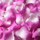 Lot of 480pcs Fake Purple white Wedding Rose Petal Life Size