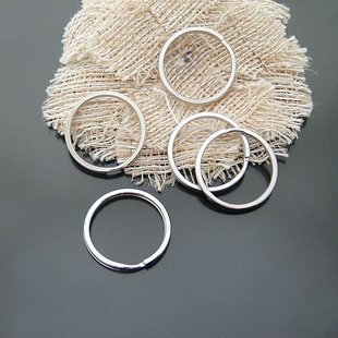 30pcs Split 27mm Key Ring Chain Metal Silver Jewelry Finding