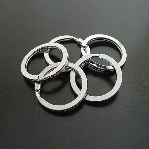 10pcs Split 33mm Key Ring Chain Metal Silver Jewelry Finding