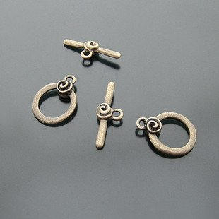 20 Sets Jewelry Repair DIY Circle Clasp Toggle Finding/jewelry accessory 13 X 12mm