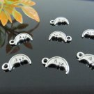 Lot of 1000pcs mini Silver Moon dollhouse miniature toy/jewelry bracelet metal alloy Charm CM720