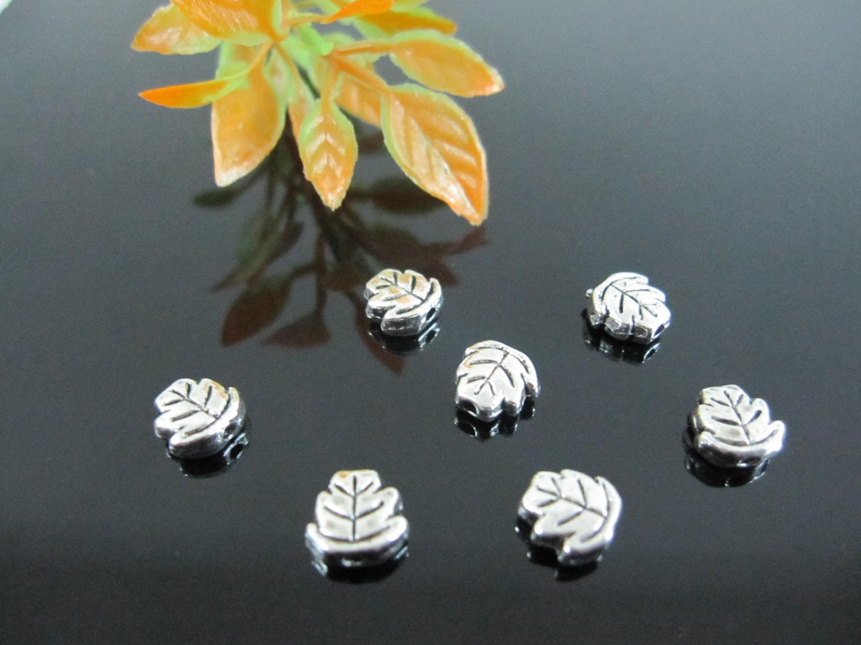 1500pcs mini Silver Leaf dollhouse miniature toy/jewelry bracelet  metal alloy Charm CM664