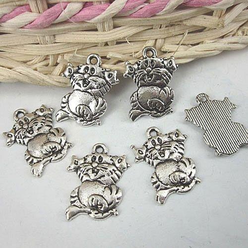 Lot of 300pcs mini Cat Tom & Jerry dollhouse miniature toy/jewelry bracelet  metal alloy Charm B2