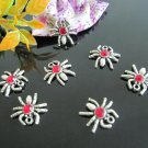 Lot of 200pcs Dollhouse Miniature Red Blood Spider  /jewelry bracelet  metal alloy Charm