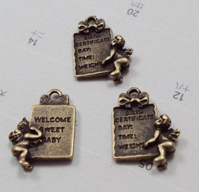 Lot of 200pcs Angel 18 X 15MM dollhouse miniature toy/jewelry bracelet  metal alloy Charm A1