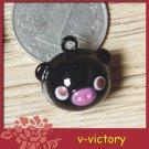 10 x Cartoon Bell Dog Pet Cat Collar Black Pig animal 2cm