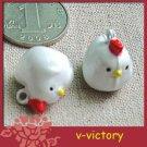 10 x Cartoon Bell Dog Pet Cat Collar Chick Chicken  B2 2cm