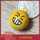 10 x Cartoon Bell Dog Pet Cat Collar Laugh Face Icon 2cm