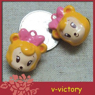 10 x Cartoon Bell Dog Pet Cat Collar Mickey Mouse 2cm