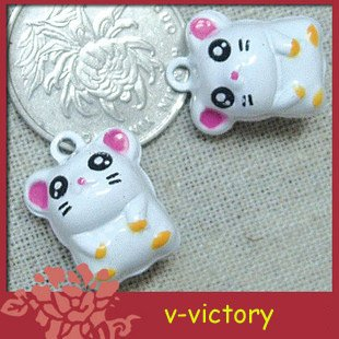 10 x Cartoon Bell Dog Pet Cat Collar Mouse 2cm B2