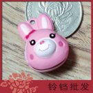 10 x Cartoon Bell Dog Pet Cat Collar Rabbit Head 2cm