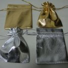 100pcs 7 x 9cm Gold Silver Organza Bag Jewelry gift Bag Wedding Accessory Pouch