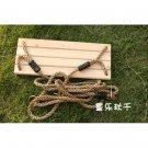 Classic Wood Tree Swing Kit for Adult Kid outdoor fun b2
