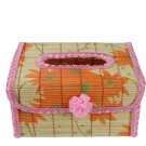 Original Bamboo Tissue BOOK  holder souvenir/gift Pink