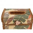 Original Bamboo Tissue BOOK  holder souvenir/gift Green