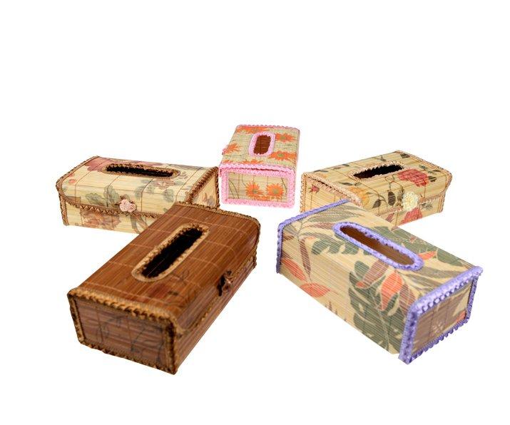 Original Bamboo Tissue BOOK  holder souvenir/gift Green 22 x 13.5 x 8