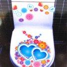 2pcs Double Love Wall Sticker Art Toilet Bathroom Vinyl Decor
