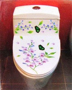 2pcs Flower Wall Sticker Art Toilet Bathroom Vinyl Decor B1