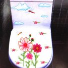 2pcs Flower Wall Sticker Art Toilet Bathroom Vinyl Decor B3
