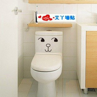 2pcs Girl Face Wall Sticker Art Toilet Bathroom Vinyl Deco B2r