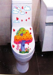 2pcs Tree Wall Sticker Art Toilet Bathroom Vinyl Deco B2r